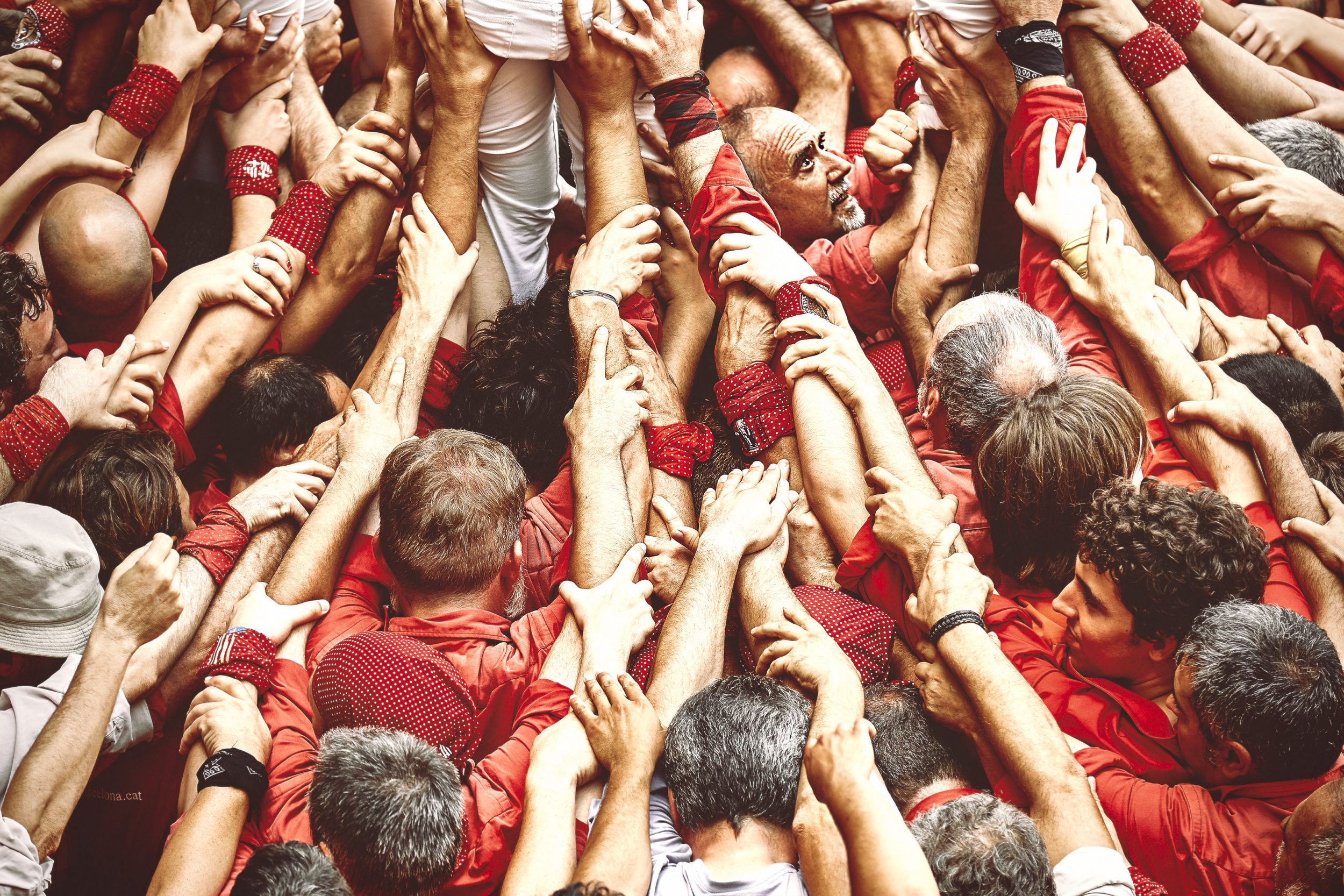 Castellers in action