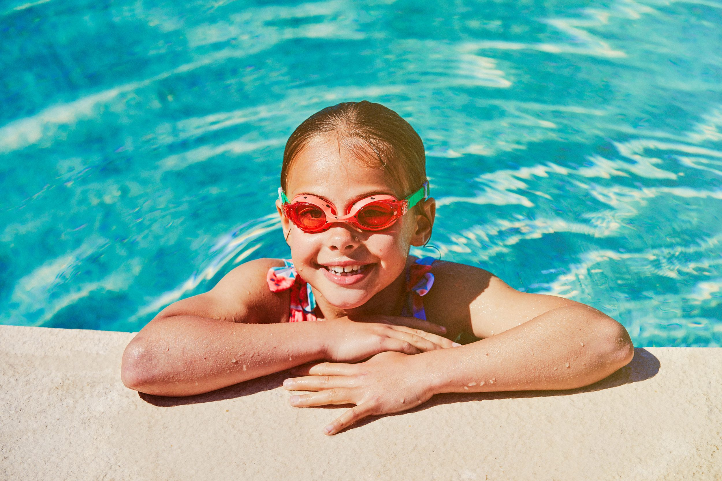 Girl swimming on holiday