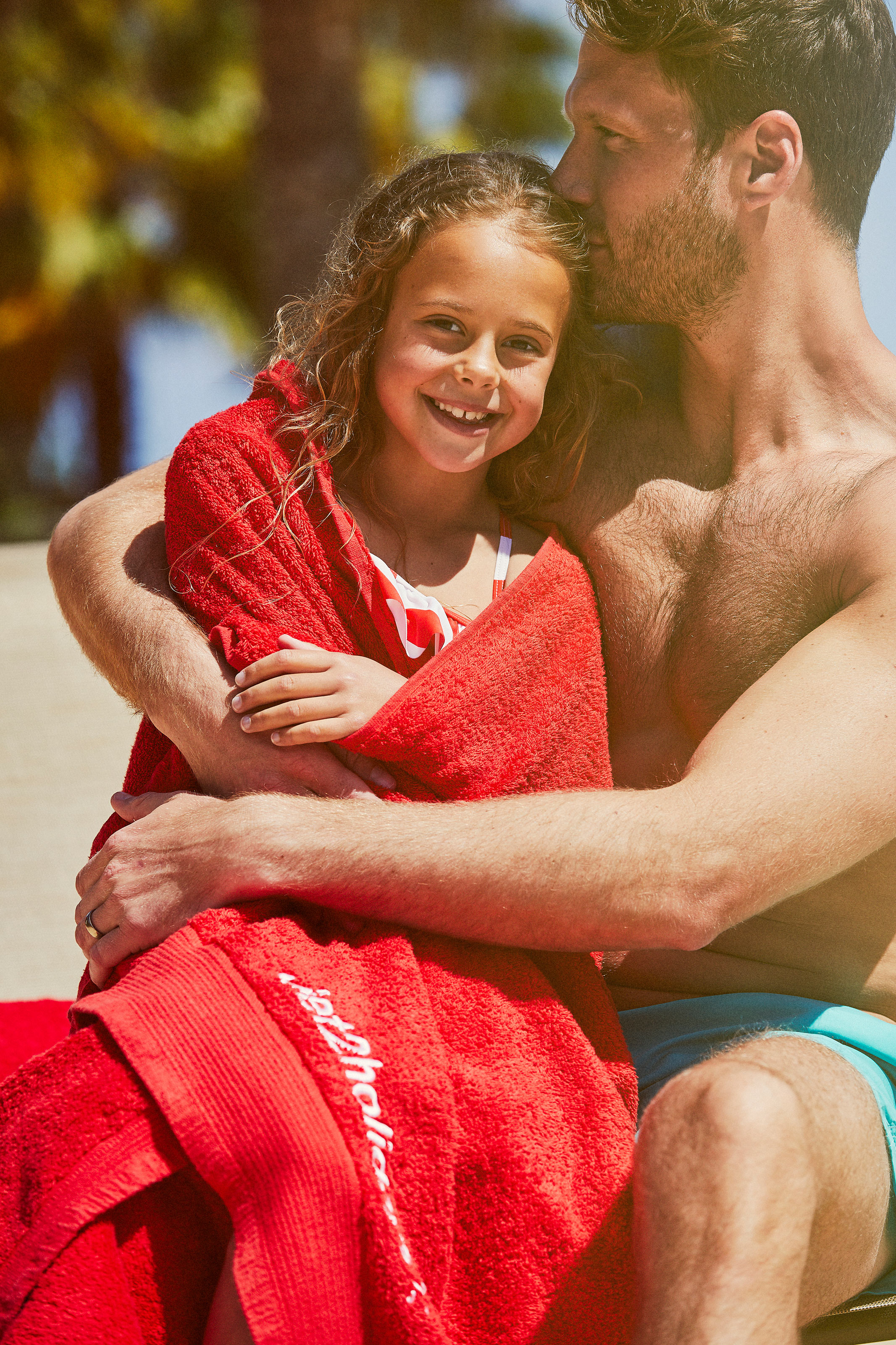 Dad and daughter on holiday