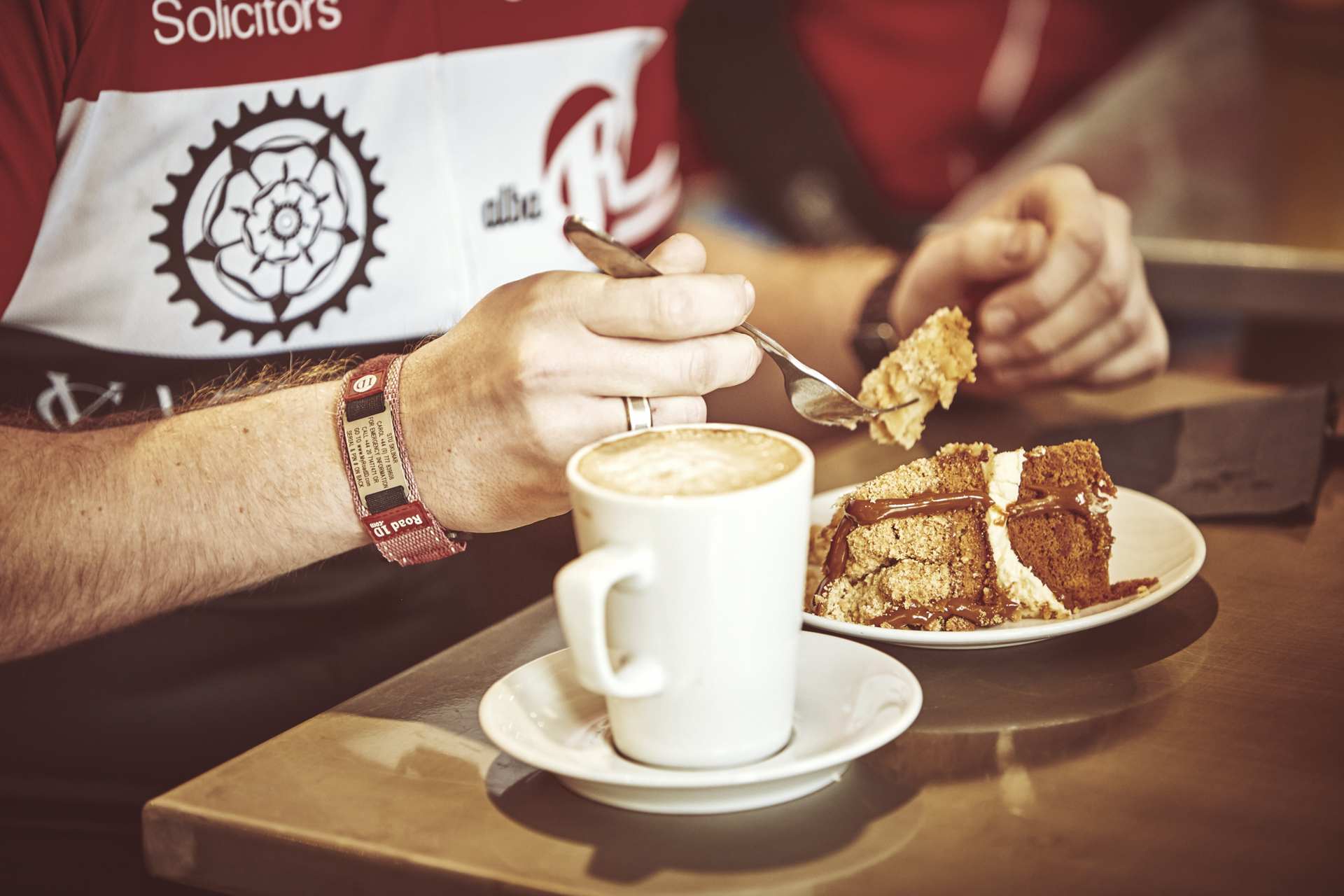 Coffe and cake after a morning ride