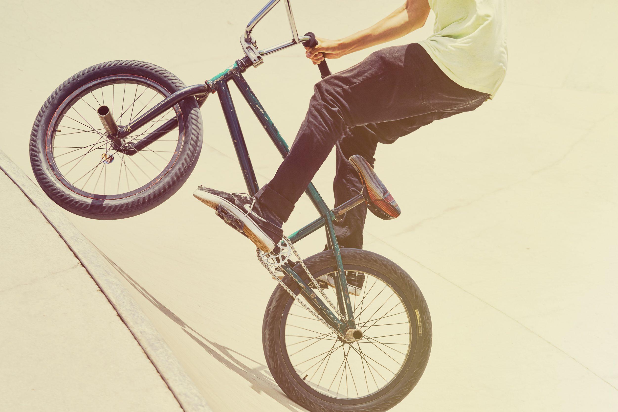 BMX rider jumpimg
