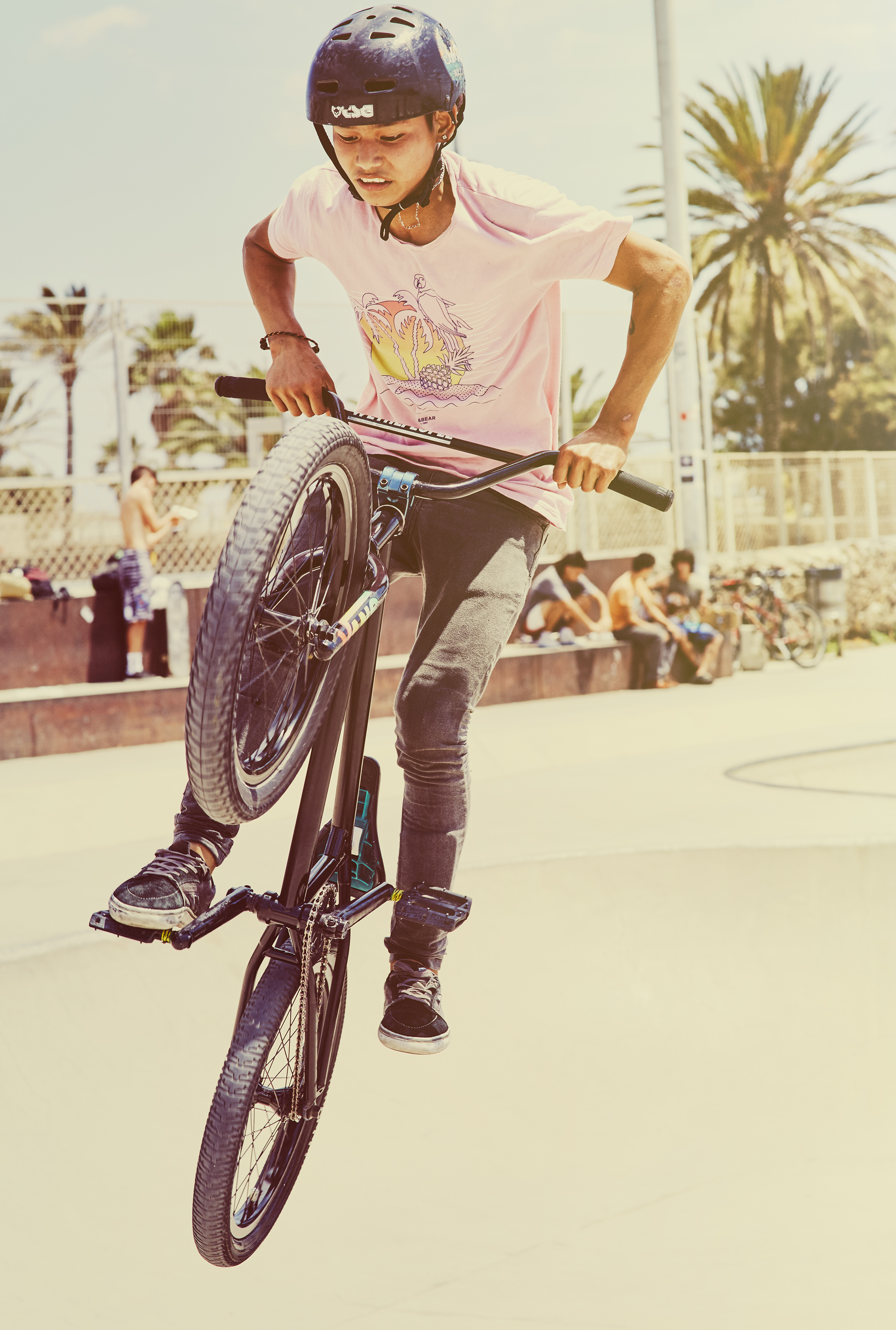 BMX Rider caught in the air
