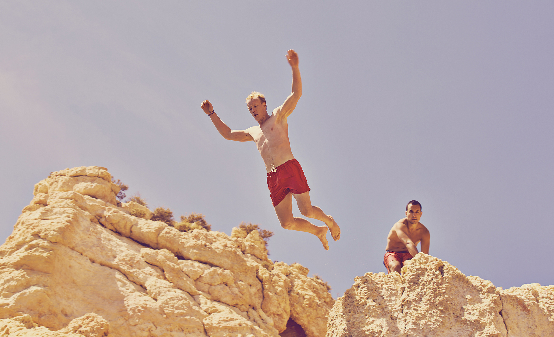 Cliff Jumping in Carvoeiro, Portugal