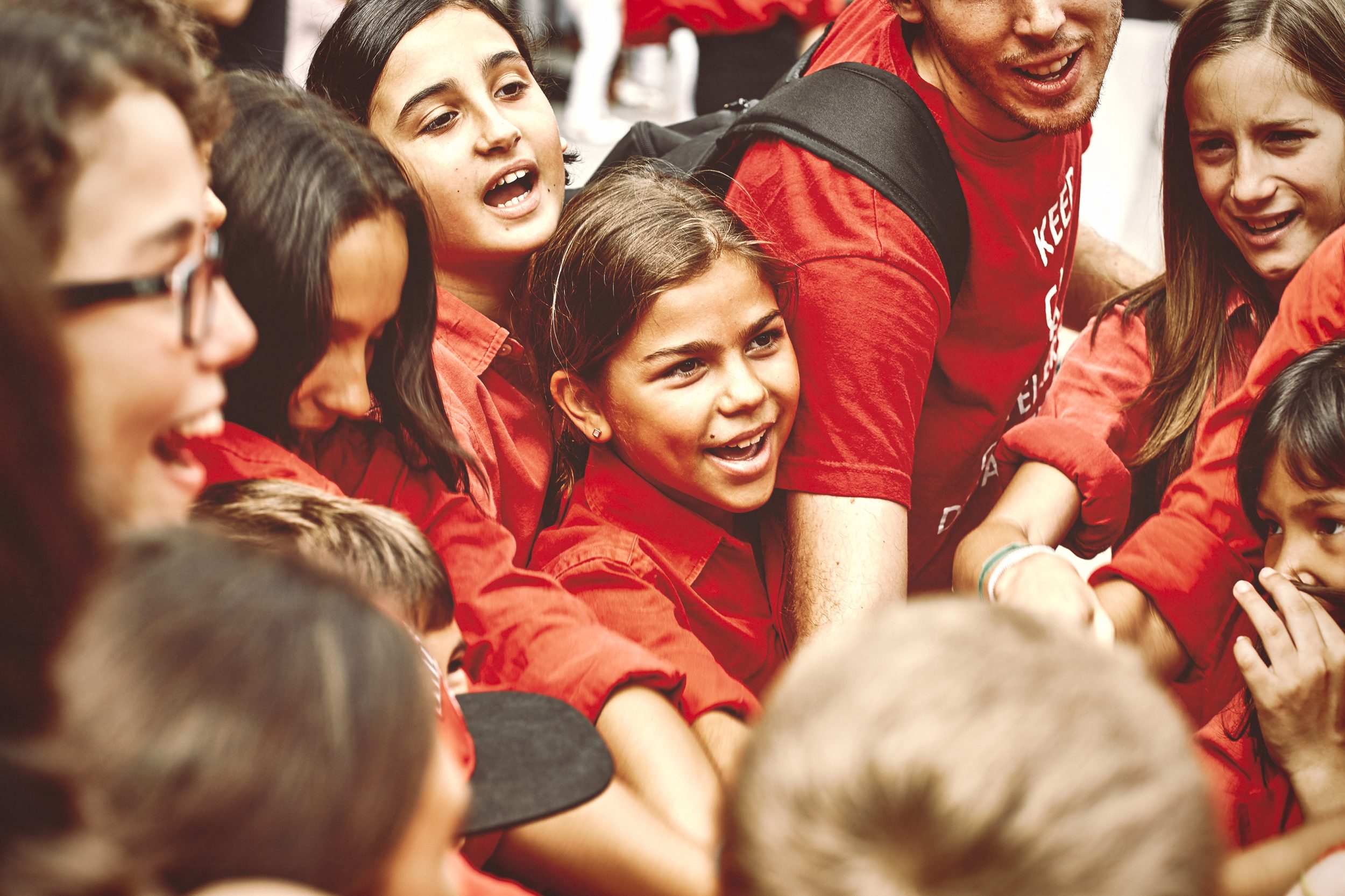 Young Castellers having fun