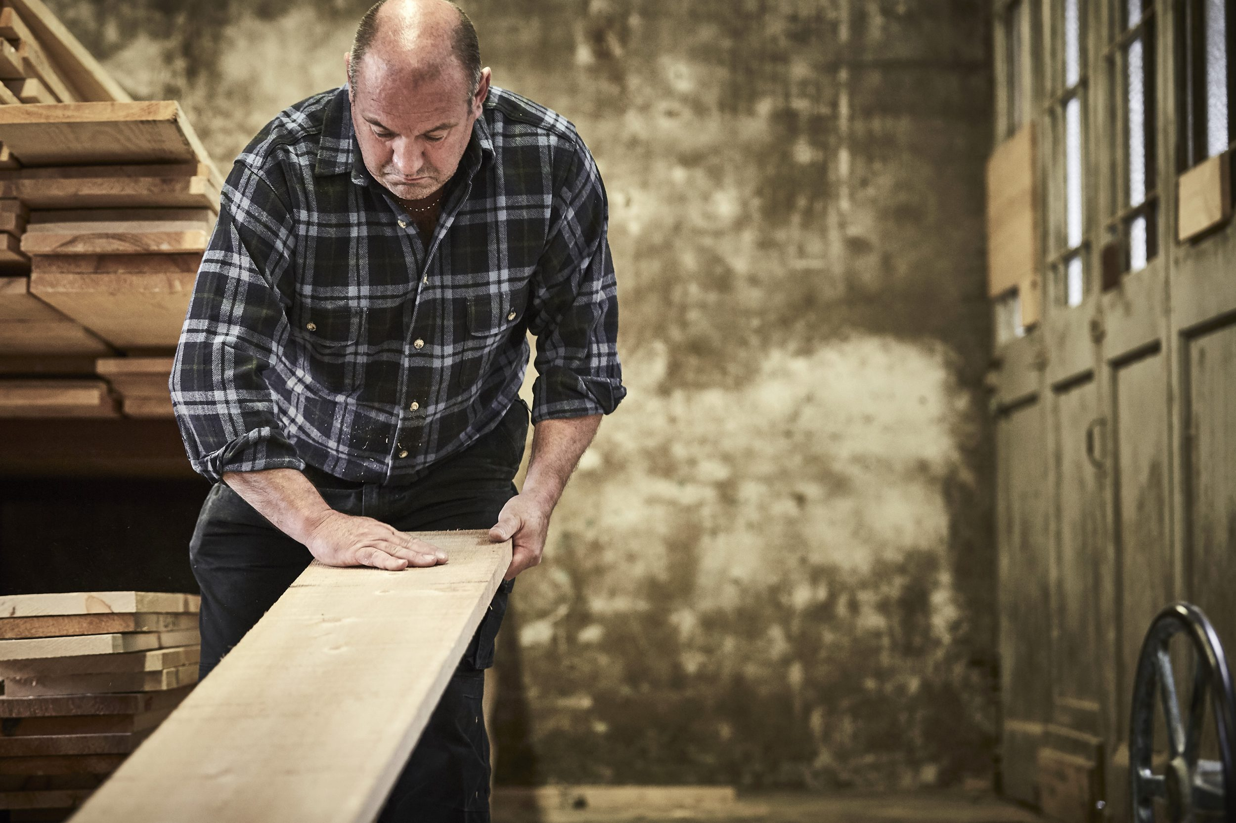 artisan selecting the right timber